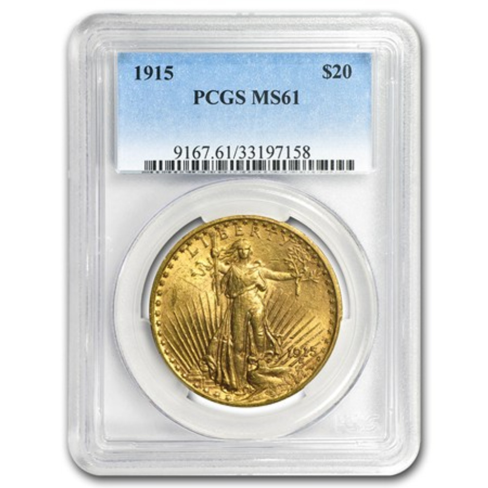 NGC/PCGS MS61 $20 St. Gaudens Gold Coin