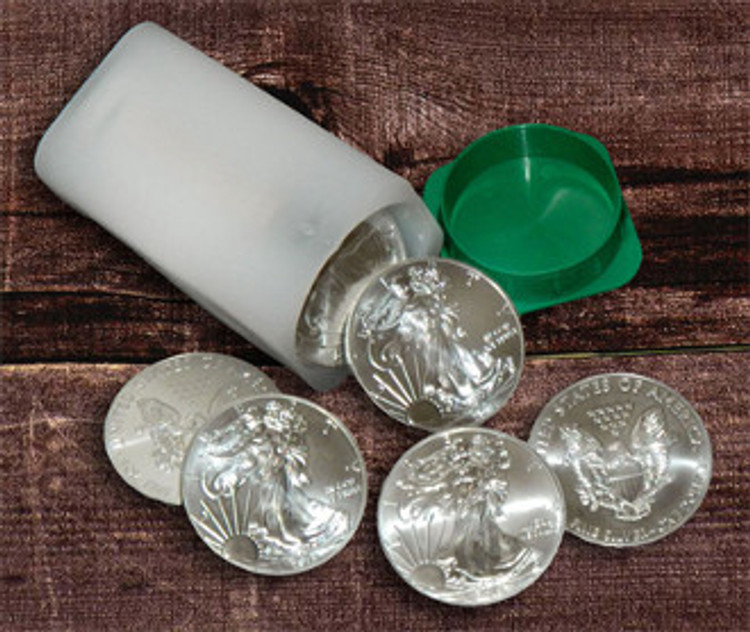 US Silver Eagles Roll (20) Silver Coins
