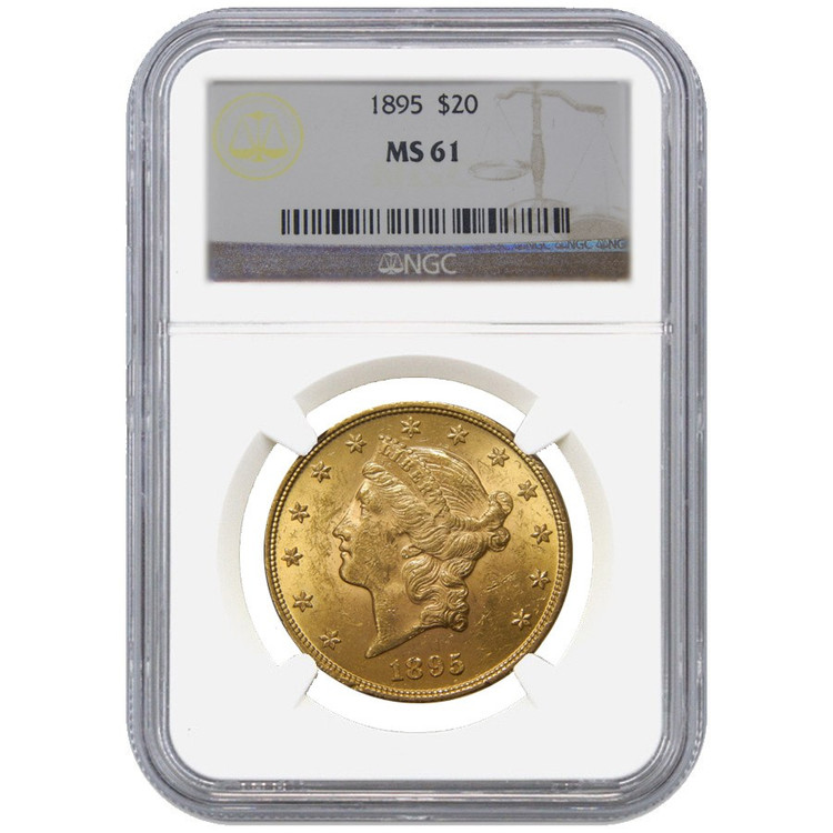 NGC/PCGS MS61 $20 Liberty Gold Coin