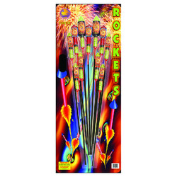 Mighty Max Assorted Rockets - 12 pieces