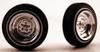 Chrome Reversed Wheels & Tires (2 pair) 1/24-1/25