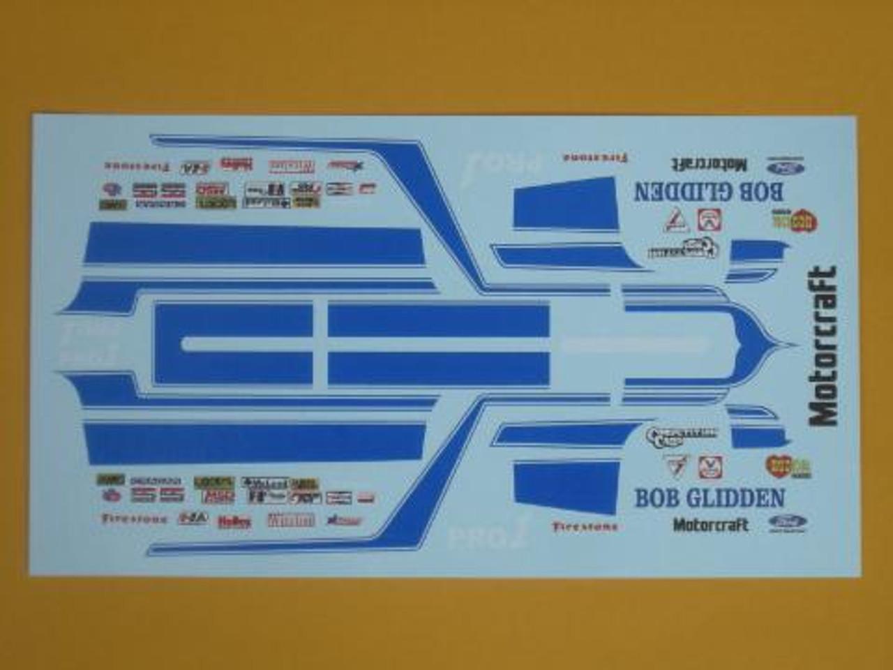 Fairmont 1981 Pro Stock Bob Glidden Decals1/25