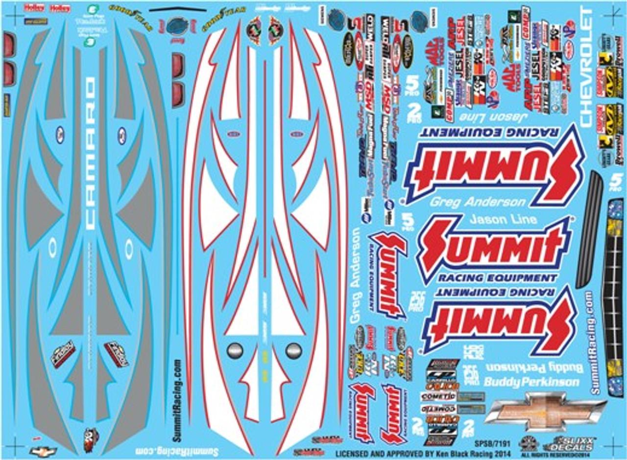 Summit Racing Pro Stock Camaro Decal Sheet #2 1/25