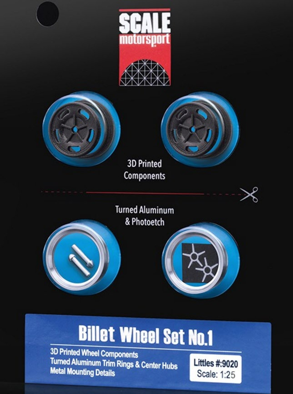 Billet Wheels, Front, 'Littles' 1/25