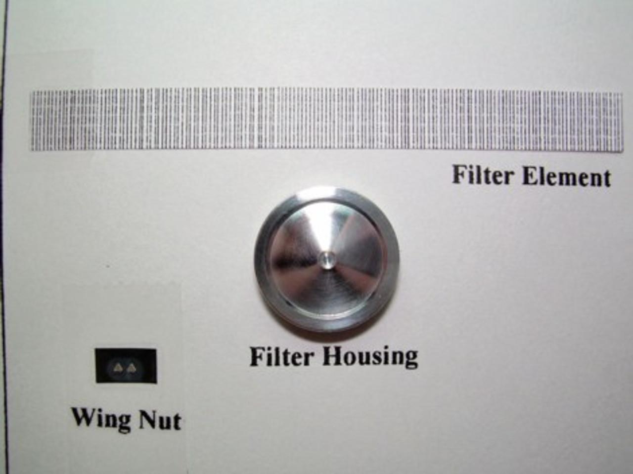 "Round 14"" Aluminum (Edelbrock Style) Air Cleaner 1/25"