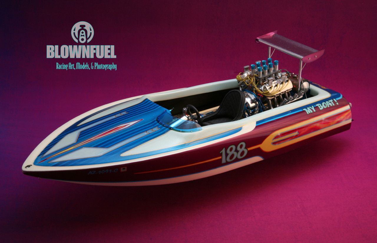 Photo of completed boat using the Kit-90 detail set and optional hull.