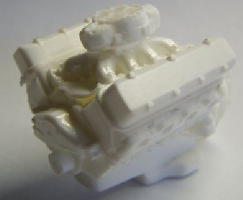 Single carb engine shown