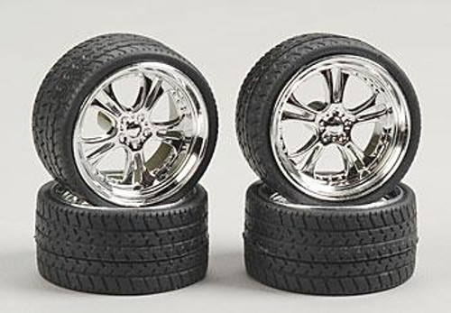 Phat Daddy Wheels & Tires (2 pair) 1/24-1/25
