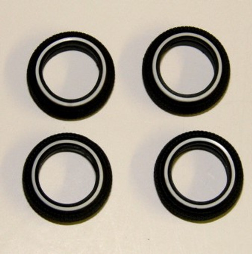 Low Profile White Wall Tire Set of 4 1/25