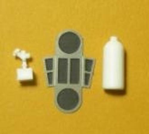 NoS Aluminum Bottle Set with Bracket 1/25