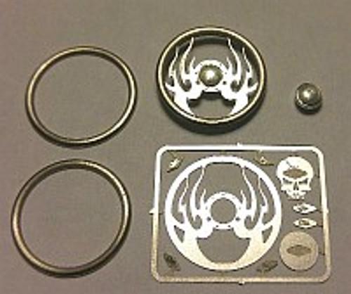 Hell Fire Skull Steering Wheel 1/24-1/25