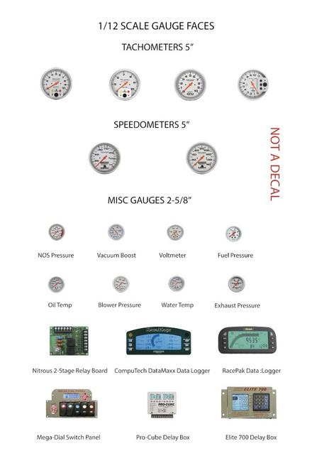 Auto Meter Gauge Faces - Tachs, Speedos, Boost, Nitrous & More 1/12