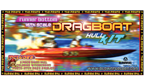Drag Boat Hull 1/16