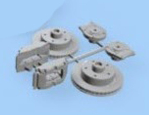 Rear Rotor & Caliper Brake Set 1/16