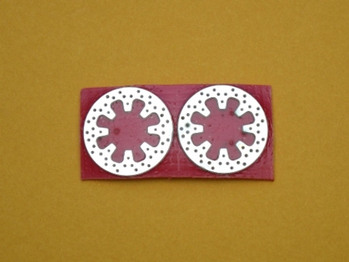 Drilled Rotor Pair, Large/Rear 1/16
