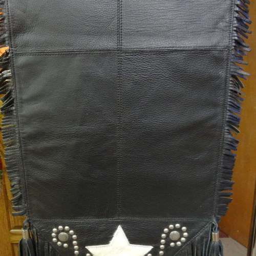 ... Black Leather Table Runner With White Hide Star And Accents ...