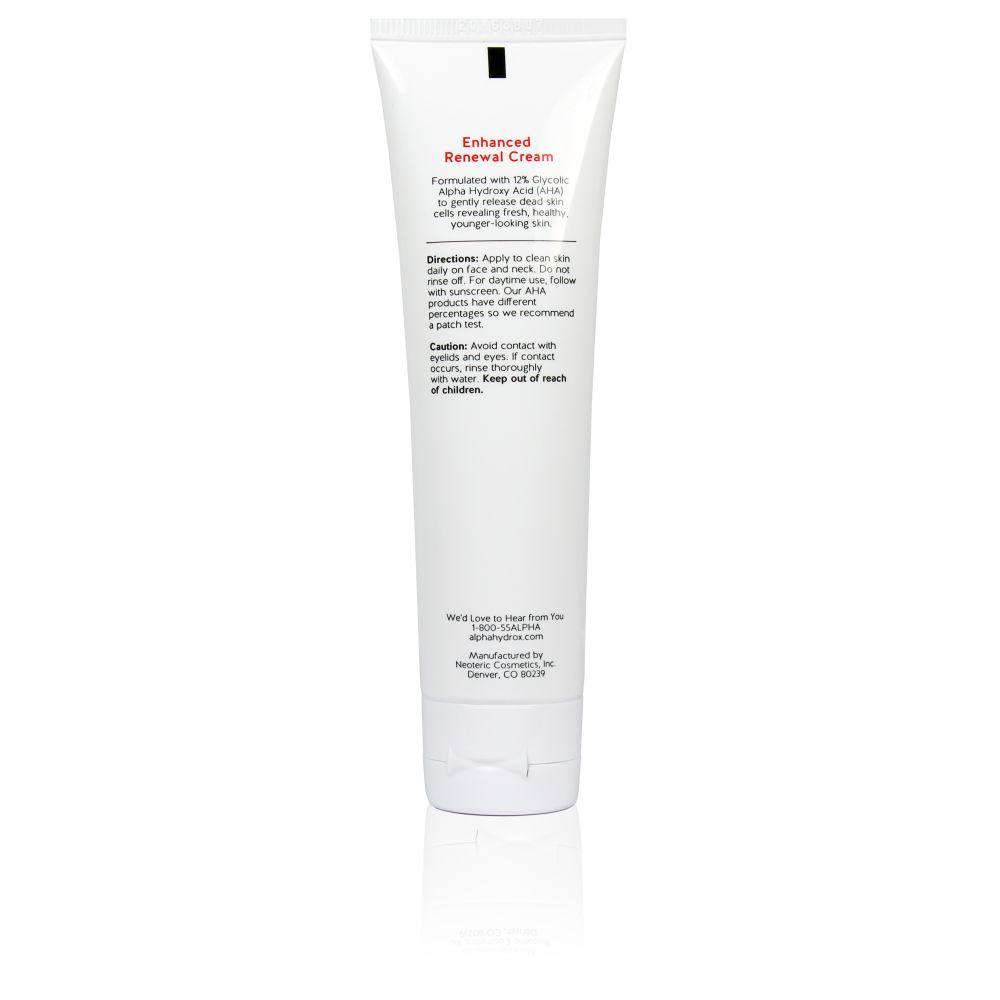 Product Shot Back Alpha Skin Care Enhanced Renewal Cream