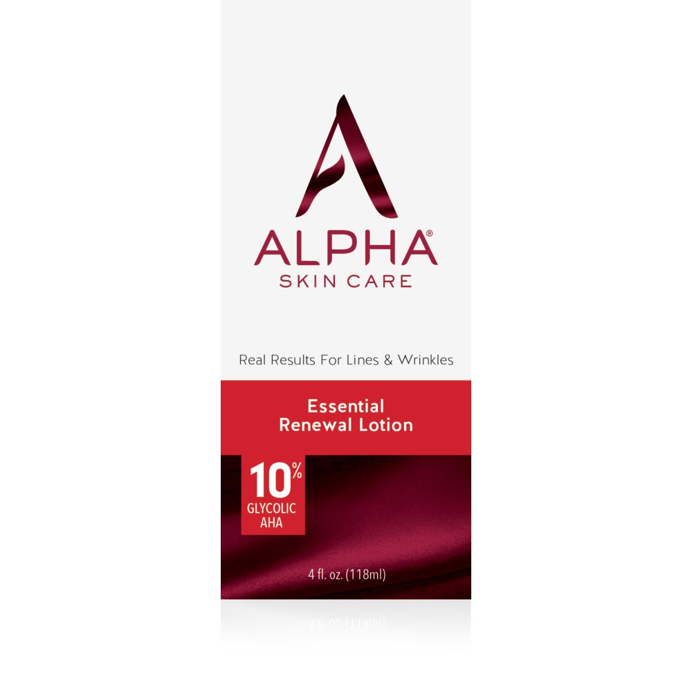 Box Shot Front Alpha Skin Care Essential Renewal Lotion