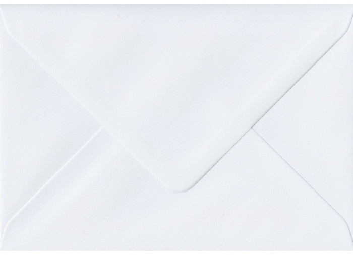 "A7 Envelopes -  130mm x 185mm (5.25"" x 7.25"") - Premium White Smooth 20Pk 100gsm"