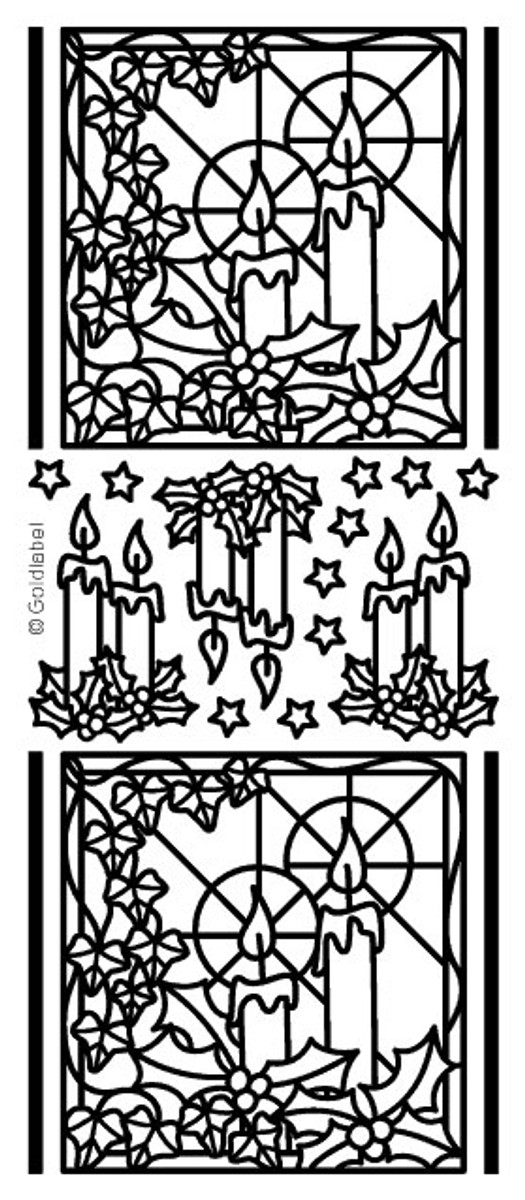 Craft Creations Peel-Off Sticker - Candle Square SILVER 96