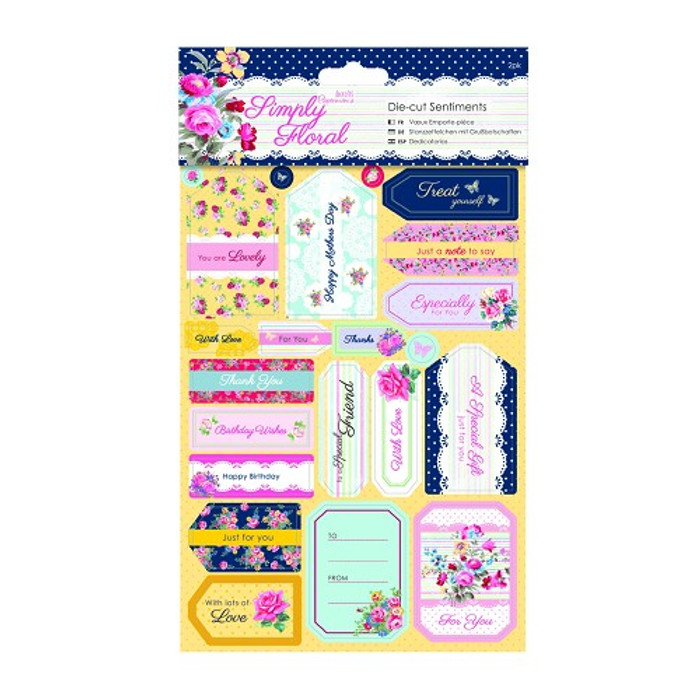 Papermania Die-cut Sentiments (2pk) -Simply Floral