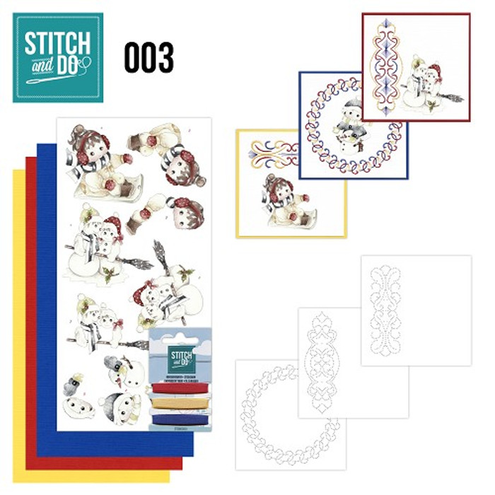 Stitch and Do 3 Card Embroidery Kit - Winter