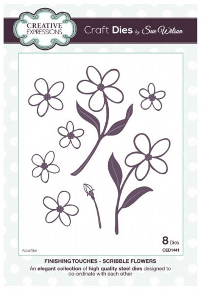 Sue Wilson Finishing Touches Scribble Flowers CED1441 - 15% Off Pre-Order