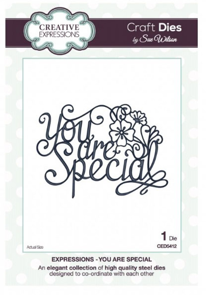 Sue Wilson - Expressions Collection - You Are Special Die CED5412 - 15% Off