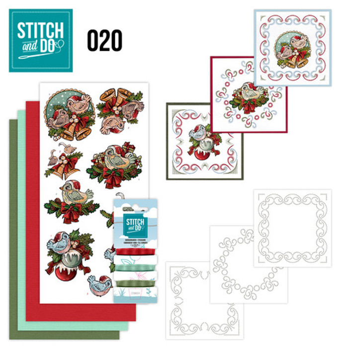 Stitch and Do 20 - Card Embroidery Kit - Christmas Tweety