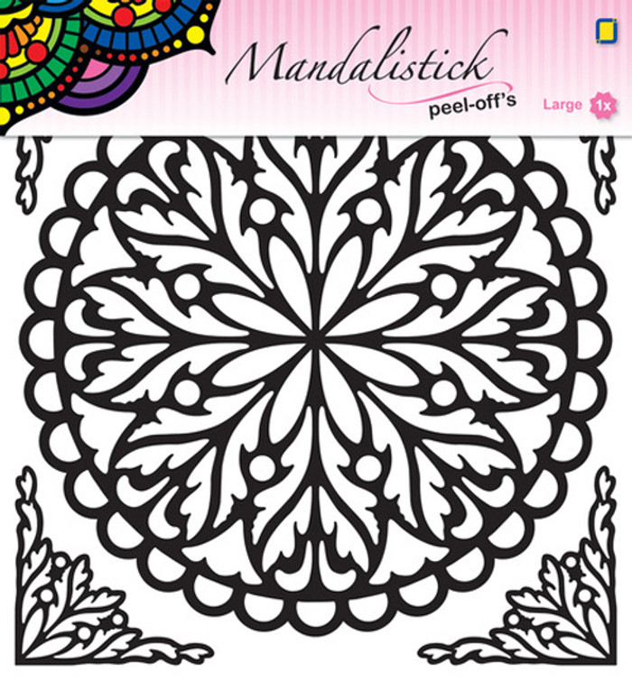 JeJe Peel-Off Sticker  -  Mandala #2  GOLD 190mm  3.9245