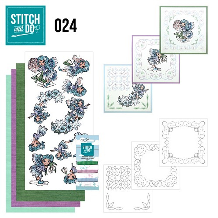 Stitch and Do 24 - Card Embroidery Kit - Fairies