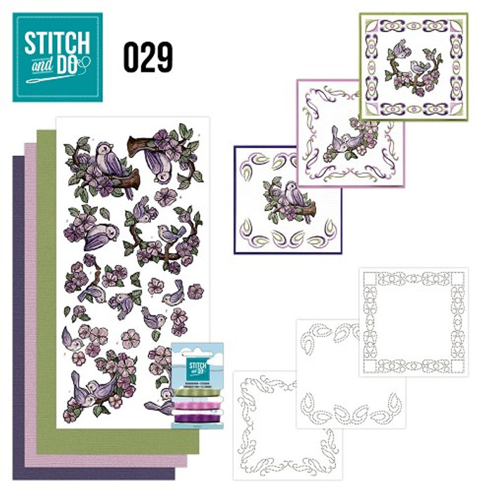 Stitch and Do 29 - Card Embroidery Kit - Birds