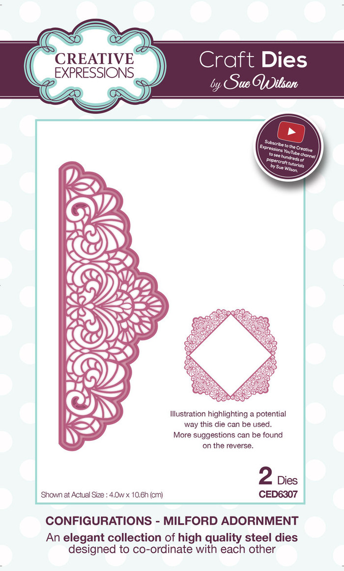 Sue Wilson - Configurations Collection - Milford Adornment Die CED6307 - Pre-Order 15% Off