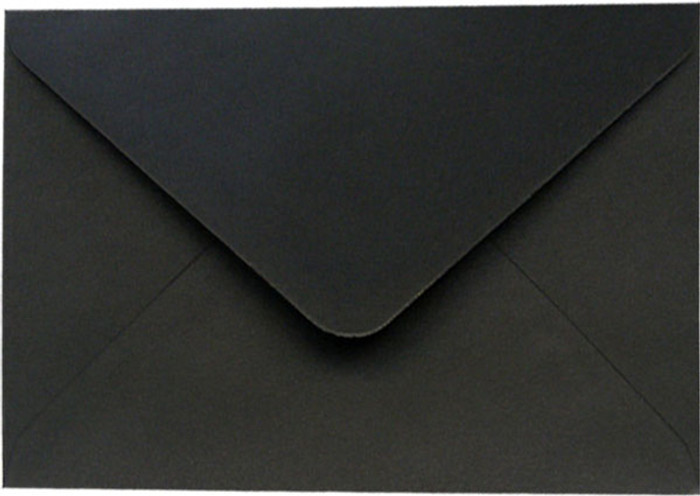 C6 Envelopes - 162mm x 114mm Premium BLACK 20Pk 120gsm