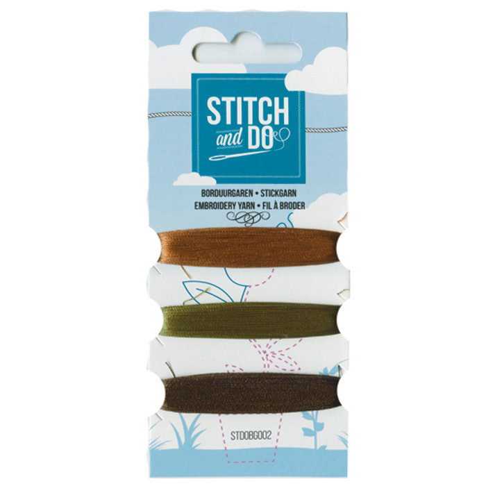 Stitch and Do Card Embroidery Thread Set 002 - 3 x 50m
