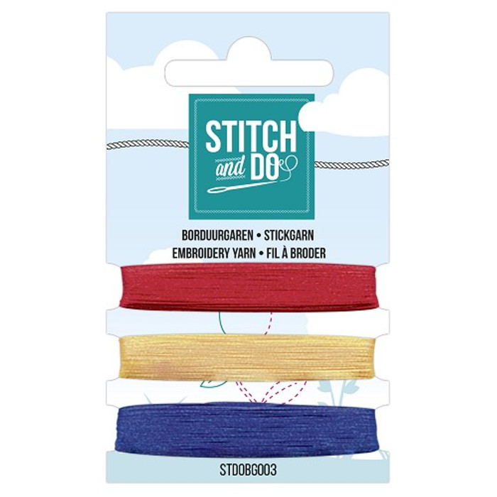 Stitch and Do Card Embroidery Thread Set 003 - 3 x 50m