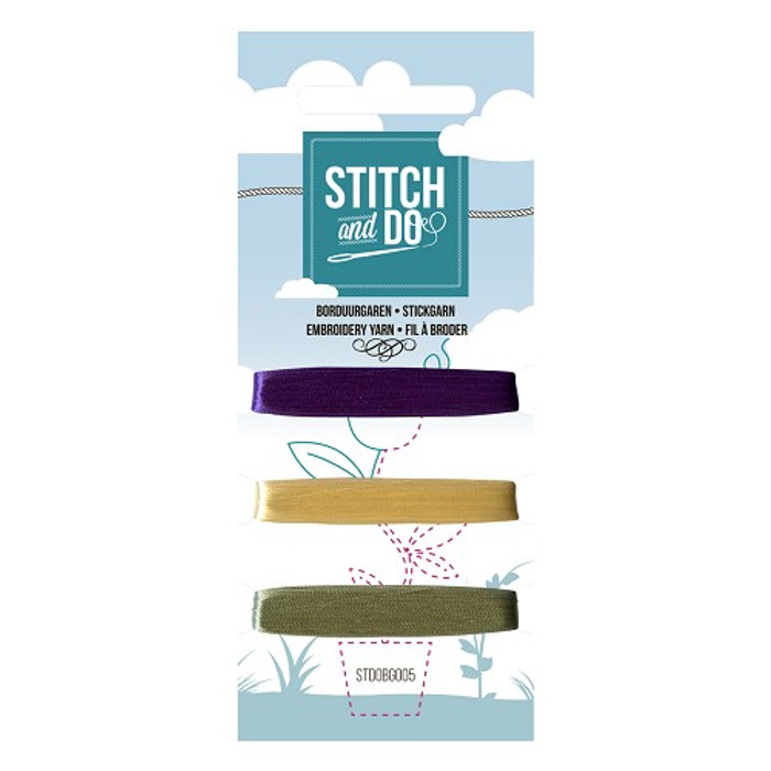 Stitch and Do Card Embroidery Thread Set 005 - 3 x 50m