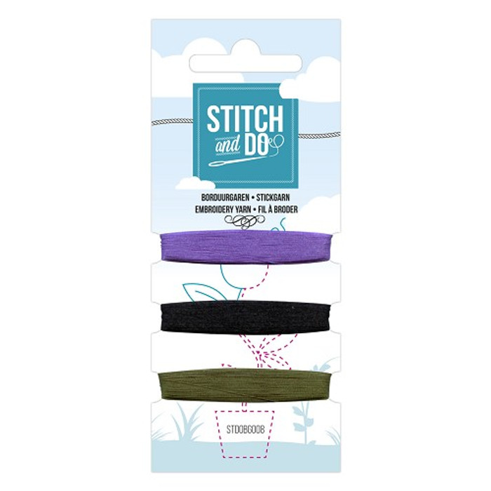 Stitch and Do Card Embroidery Thread Set 008 - 3 x 50m