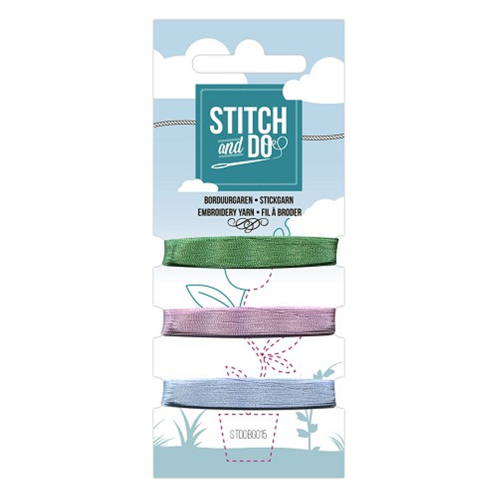 Stitch and Do Card Embroidery Thread Set 15 - 3 x 50m