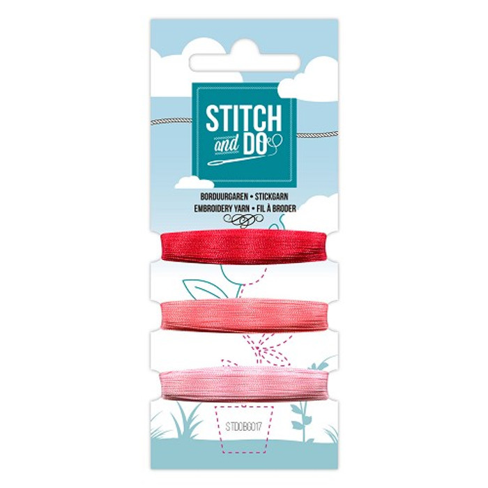 Stitch and Do Card Embroidery Thread Set 17 - 3 x 50m
