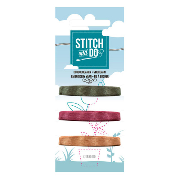 Stitch and Do Card Embroidery Thread Set 19 - 3 x 50m