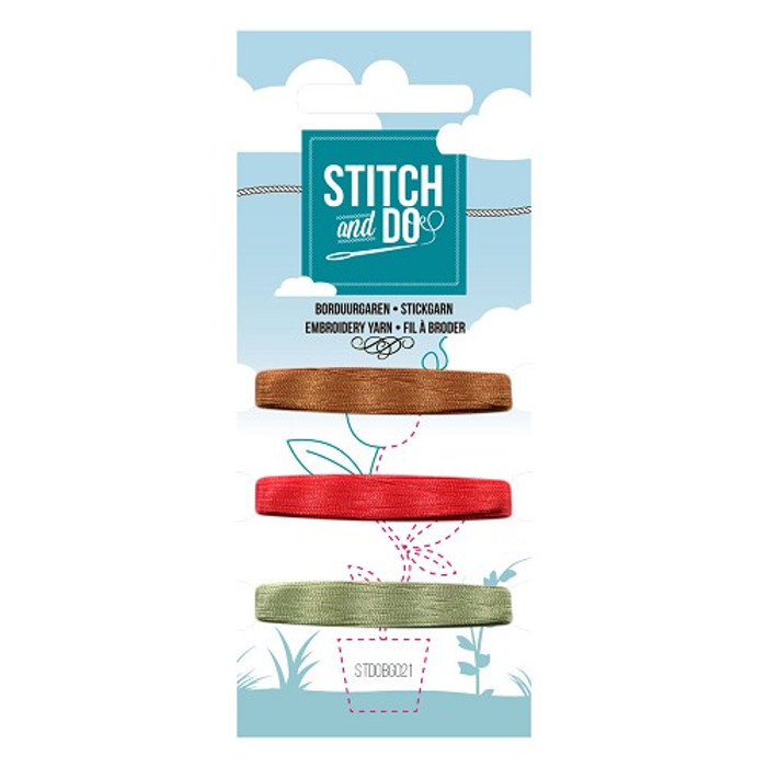 Stitch and Do Card Embroidery Thread Set 21 - 3 x 50m