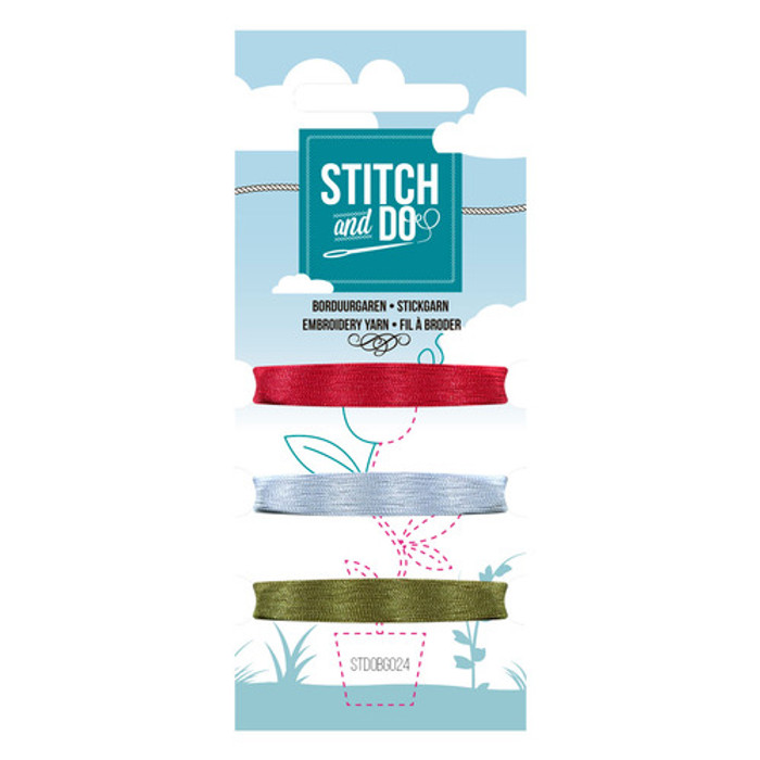 Stitch and Do Card Embroidery Thread Set 24 - 3 x 50m