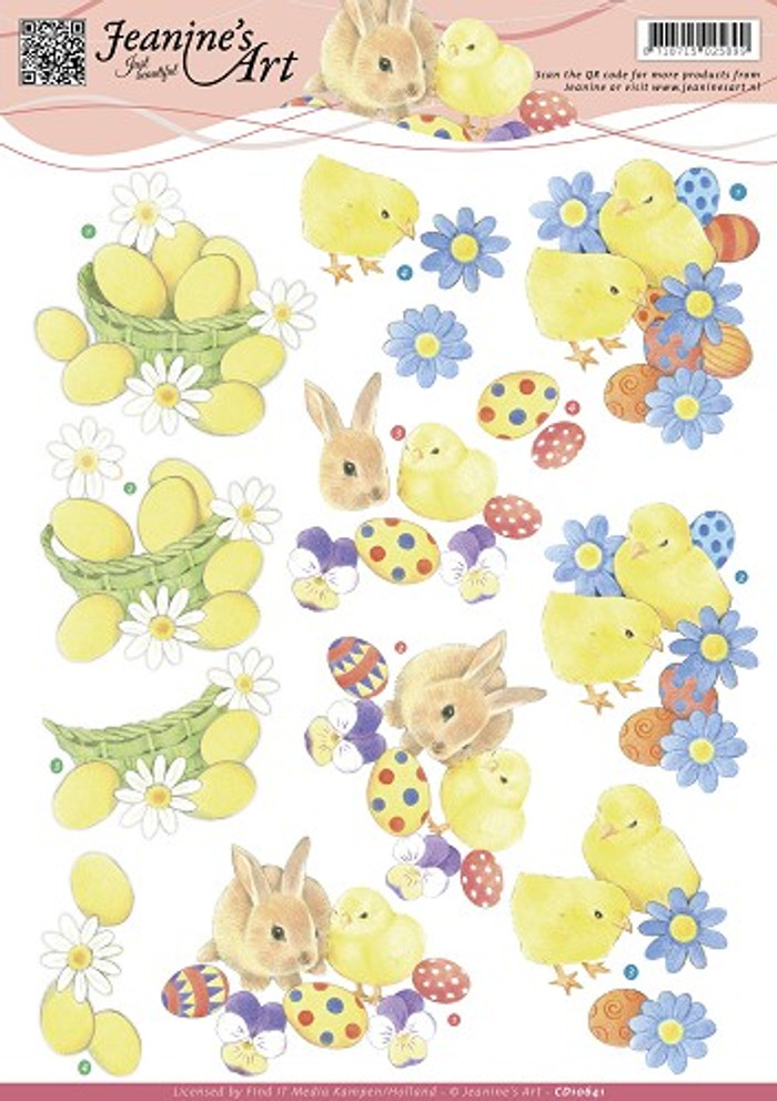 3D Sheet Jeanine's Art  - Easter  CD10641