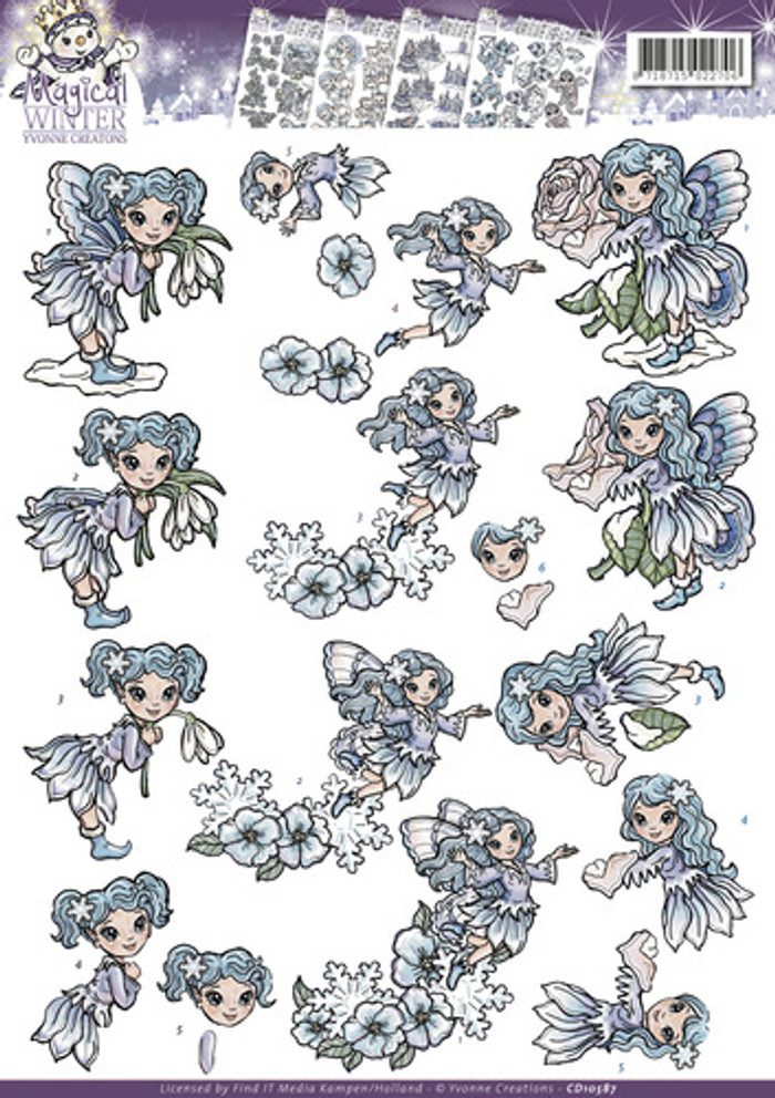 3D Sheet Yvonne's Creations  - Fairies CD10587