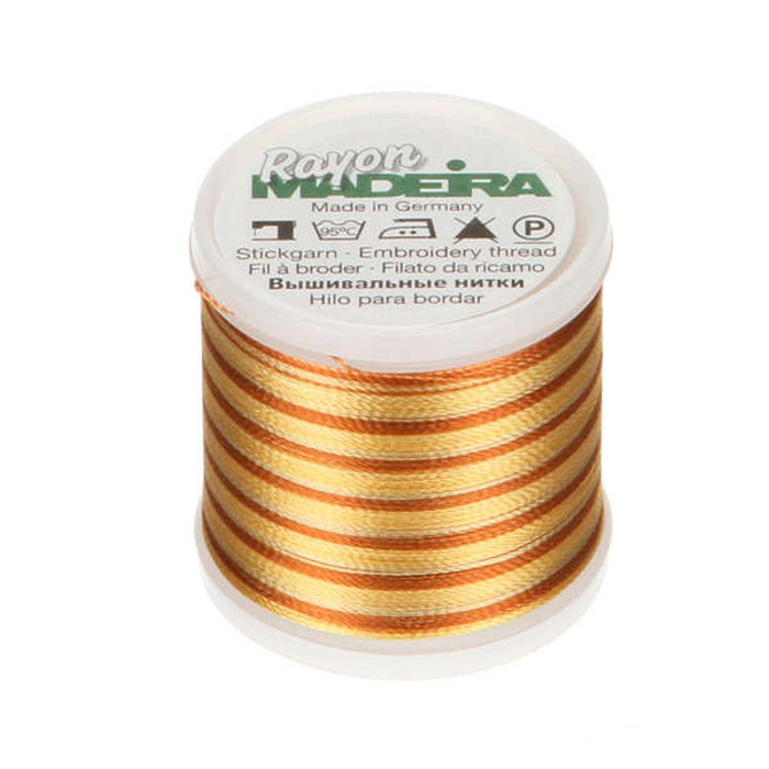 Madeira Rayon Embroidery Thread 40wt 200m - Bright Brown Ombre