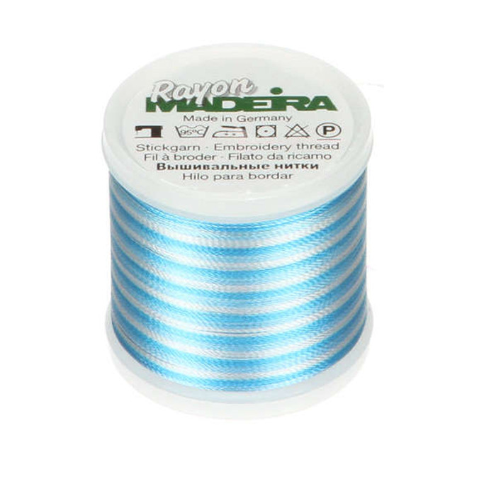 Madeira Rayon Embroidery Thread 40wt 200m - Teal Ombre