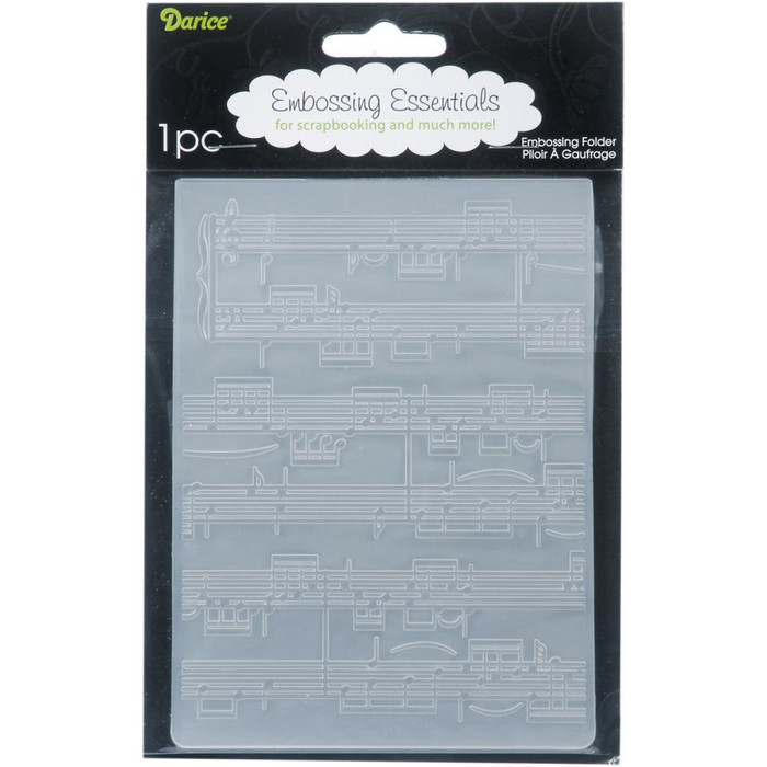 "Darice Embossing Folder - Sheet Music (4.25"" x 5.75"")"