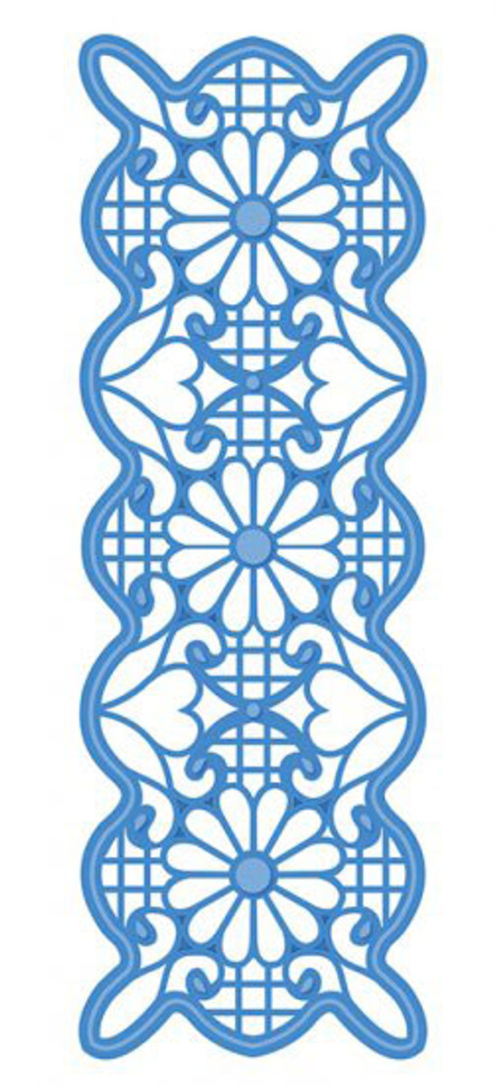Sue Wilson - Striplets Collection - Lattice & Lace Die CED1610 - Pre-Order 15% Off