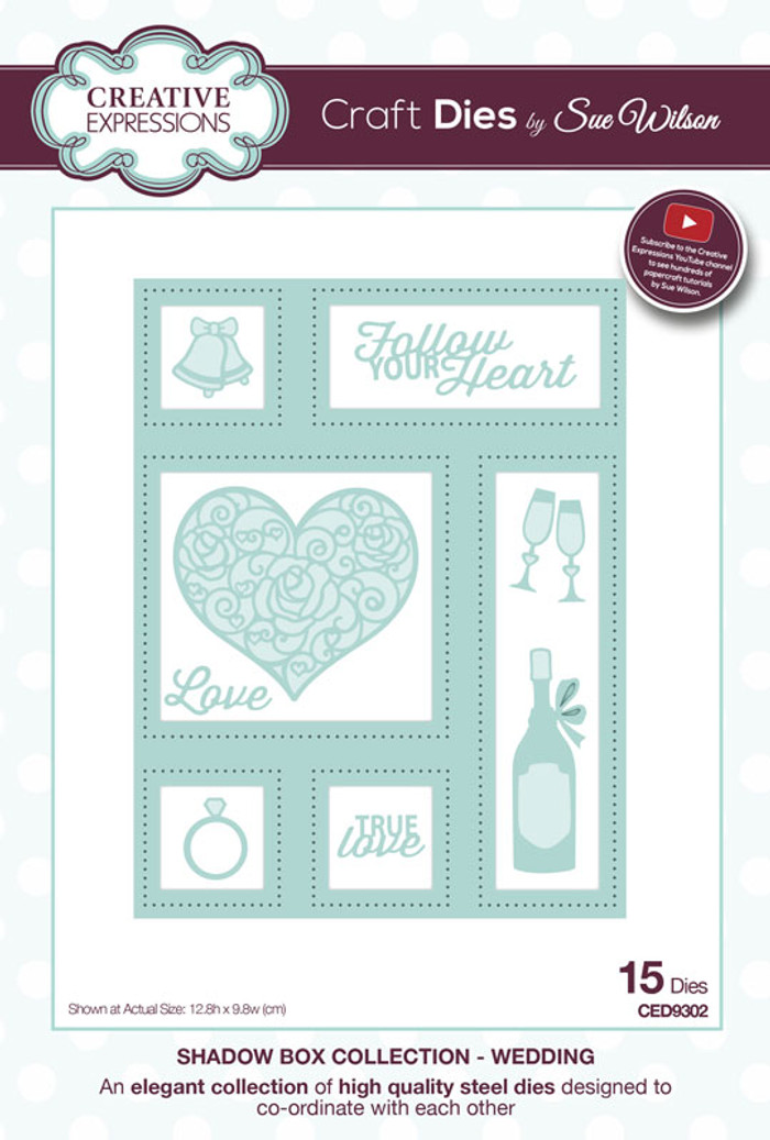 Sue Wilson - Shadow Boxes Collection - Wedding Die CED9302 - Pre-Order 15% Off
